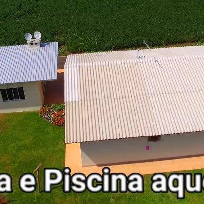 Linda chácara com casa e piscina aquecida em Erechim RS